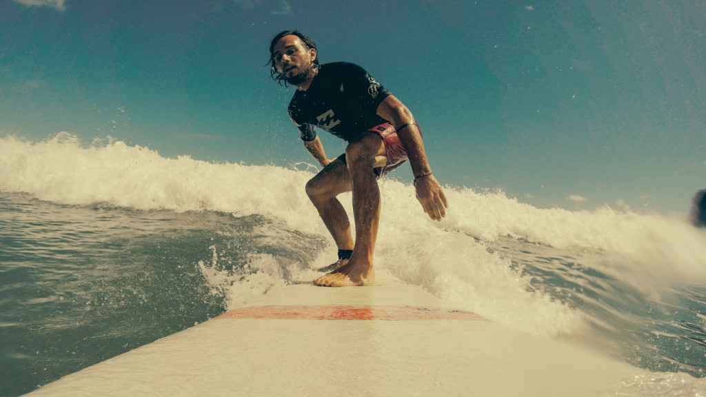 Longboard session in Pipa, Brazil