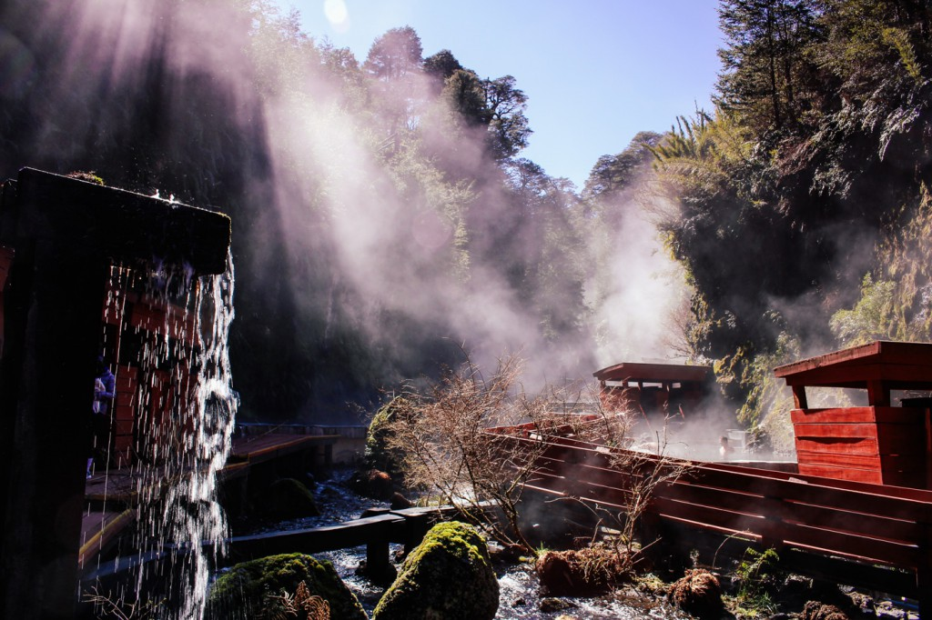 "At ""termas geométricas"" hot springs near Coñaripe, Chile"