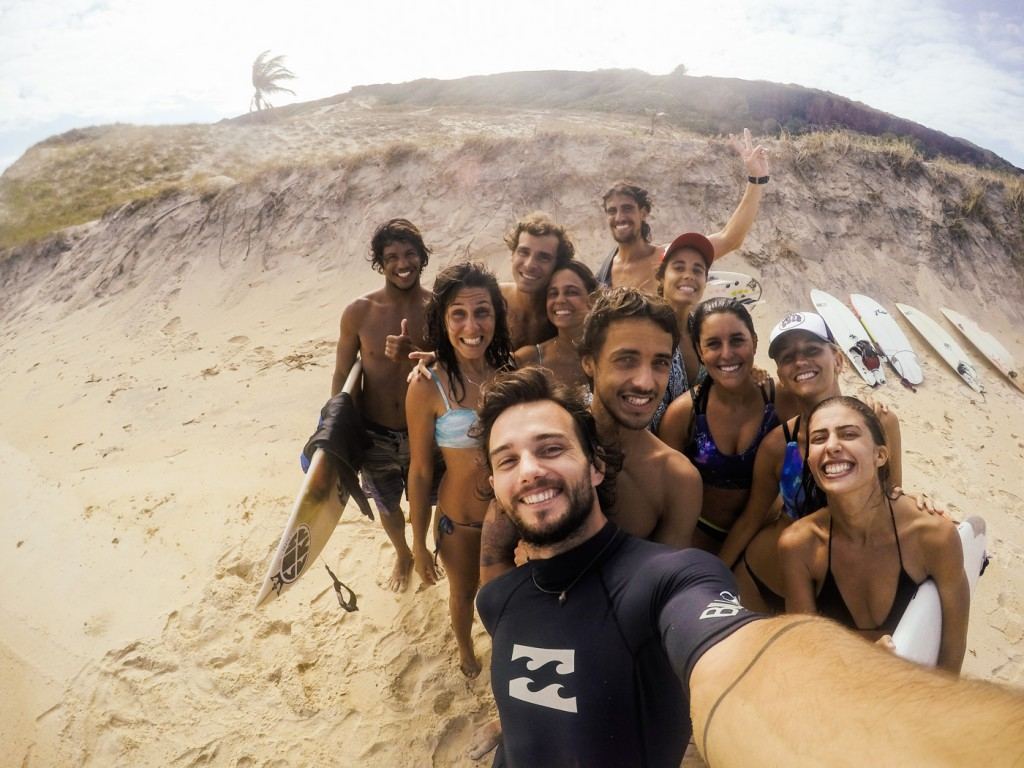 My surf family, Pipa, Brazil